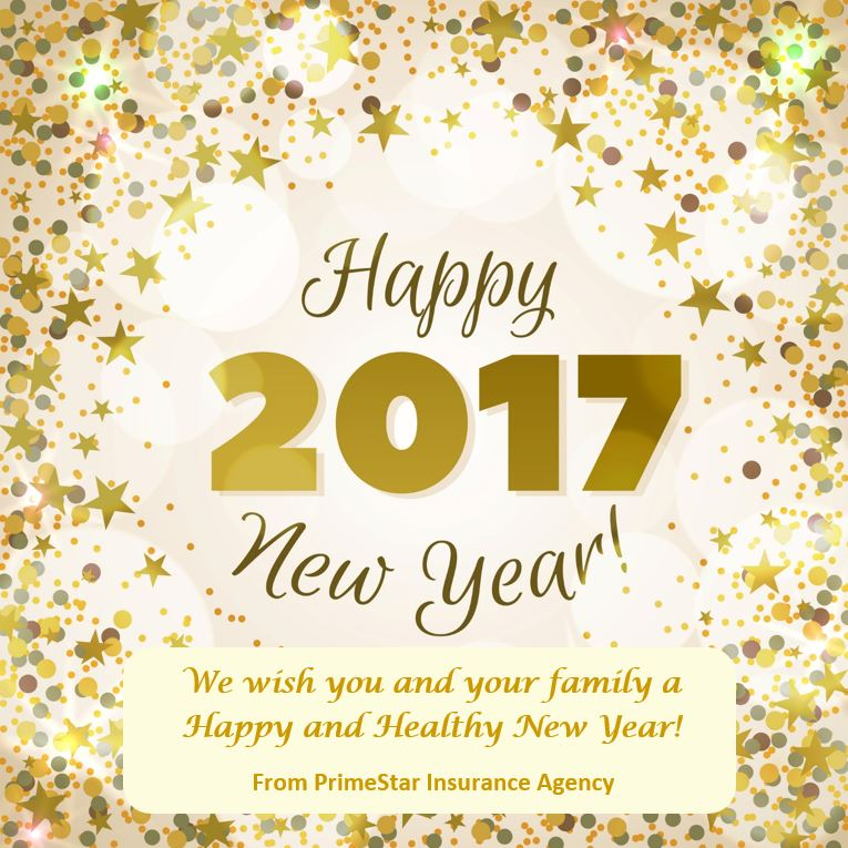 Happy New Year 2017 - PrimeStar Insurance Agency
